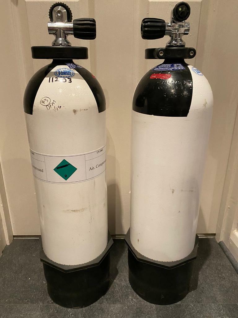 2x 12 litre Steel Faber Scuba tanks (air) | in Enfield ...