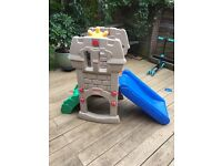 Fisher Price 'castle' slide with 'lookout' platform. Great for kids aged 2-7