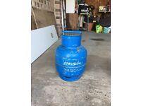 Gas bottle half full