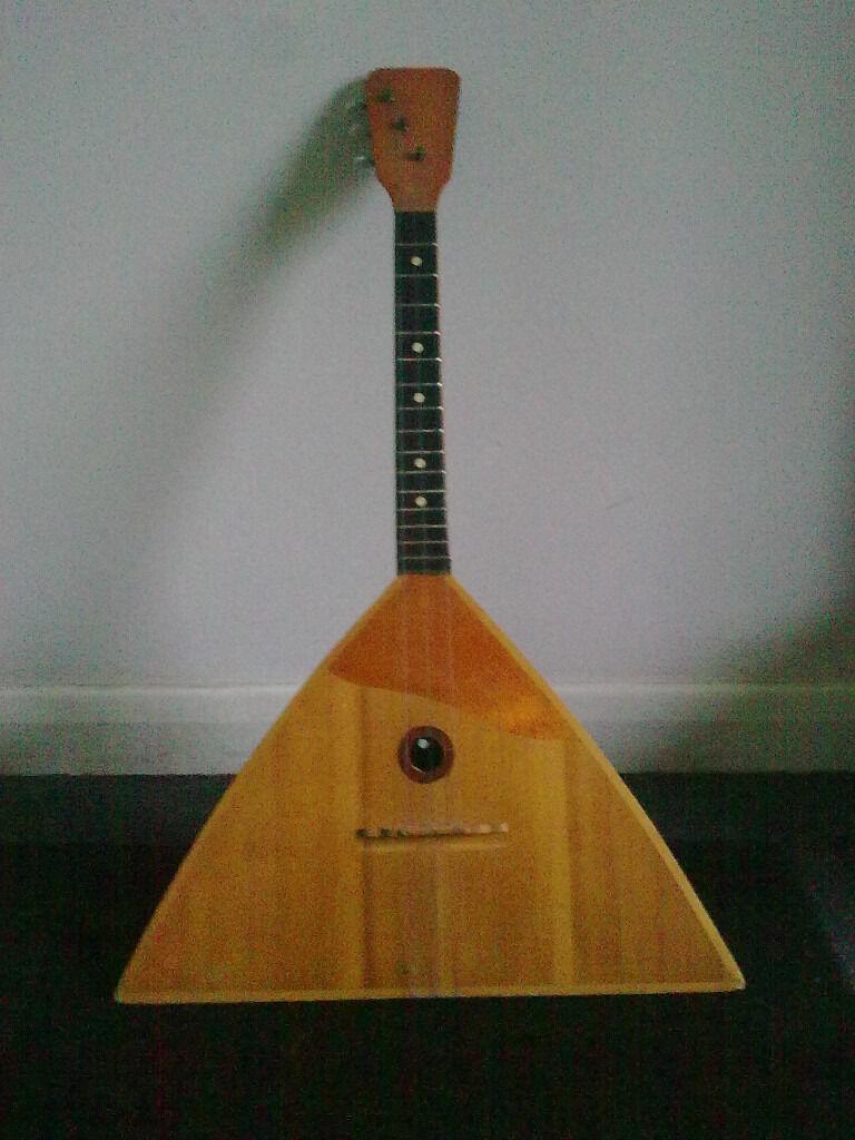 Vintage 1960s 70s Cheap Basic Balalaika Plays Ok In