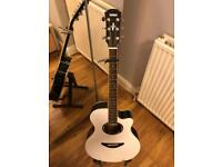 Yamaha APX500III Electro-Acoustic Guitar Black and Carbon White finish+stand