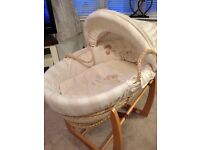 Baby Moses Basket, Chair and Bath