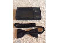 Pure Silk Black Bow Tie - John Lewis, worn once, original box