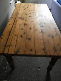 Beautiful old solid oak dining table