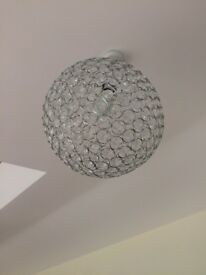 Light Shades - Chrome Globe Frame with Acrylic Crystals