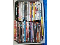 126 DVDs and 17 CDs - job lot