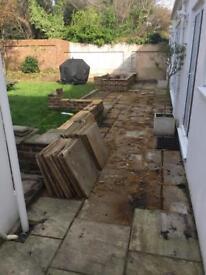 Over 60 sandstone slabs (Hove!)
