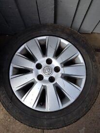 1x Spare Genuine Vauxhall 16 Inch Alloy Wheel & Good 215 55 16 Tyre Vectra Signum Meriva Astra Corsa