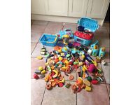 Play kitchen with till play food toaster pots etc