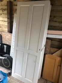 Internal 4 panel painted solid wood pine doors x 11