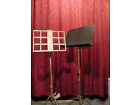 Two floor standing music stands.