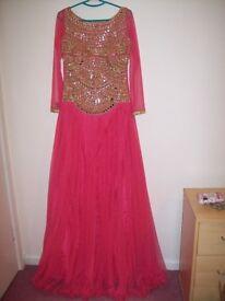 Beautiful Asian Bridal Maxi Dress