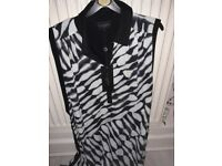 Ladies black and white summer/wedding/occasion dress