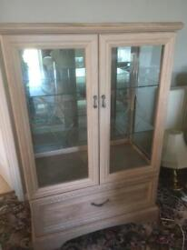 Display cabinet with matching coffee table