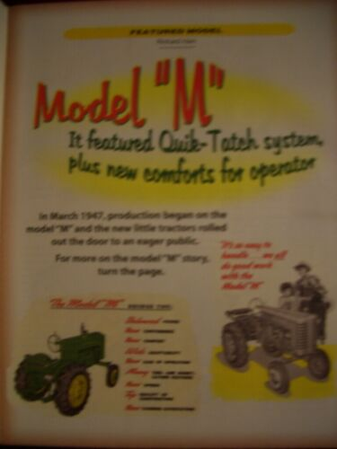 John Deere Model M tractor Green Magazine MT MC Information - Experimental M