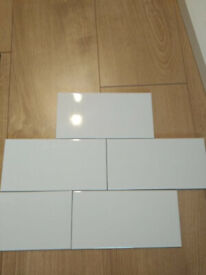Wickes Cosmopolitan White Ceramic Tile 200 x 100mm - box unopened
