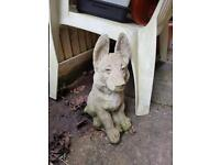 Stone dog garden ornament for sale