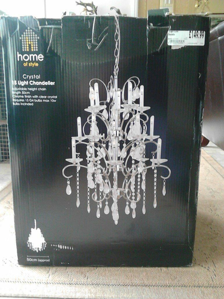 Crystal 15 light chandelier homebase brand new in winchester crystal 15 light chandelier homebase brand new arubaitofo Image collections