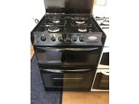 CANNON 60CM DUAL FUEL COOKER IN BLACK WITH LID