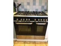Double oven with hob