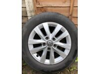 VW T6 Genuine Alloy Wheels And Tyres 16 Inch Set Of 4. 205-65-16