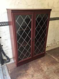Display Cabinet. Can Deliver. Mahogany with leaded glass.