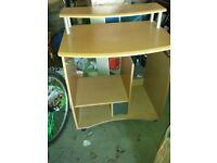 Computer desk & filing cabinet.