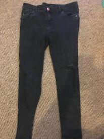 Black skinny jeans River Island