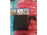 Used PS4 with 3 games