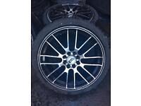 "17"" alloy wheels tyres like new 6mm multi stud 4100 4108 Honda rover Peugeot Renault Citroen polo"