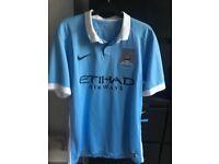 Manchester City Home shirt BNWT Men's medium