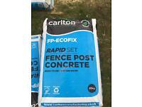 Rapid set fence post concrete. Postcrete