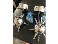 2 ceiling lights Sputnik type with glass fittings