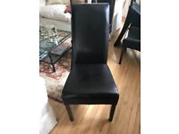 Australian chestnut brown leather dining chairs