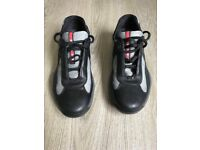 Prada Americas Cup-Black and Silver-Size 6