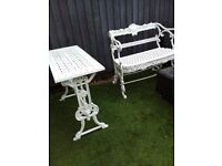 Victorian cast iron garden table bench