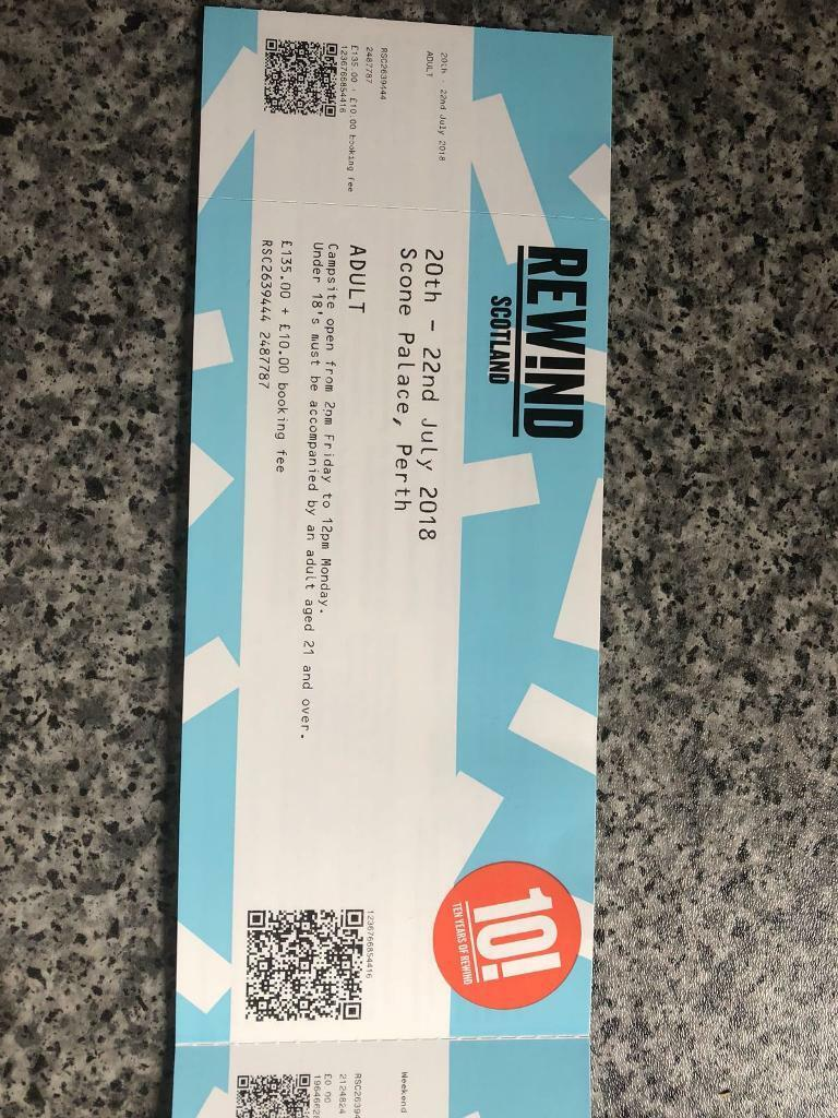 7bd24b73678d 2 x weekend rewind tickets with camping