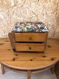 Foot stool with drawers