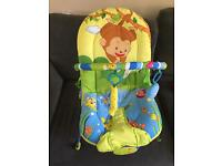 Baby vibrating and musical bouncer