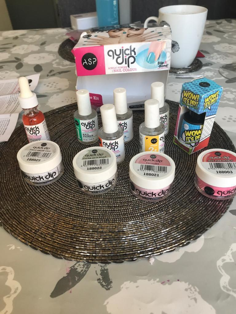 ASP Quick Dip Acrylic Nail Colour Starter Kit - Brand New £25 | in ...