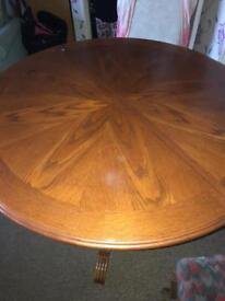 Solid wood dinning table with extension