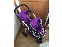 Dimples twin pushchair