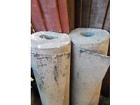 2 x heavy duty rolls of 38kg roofing top felt