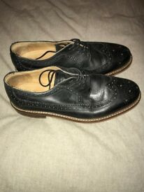 H by Hudson Black Leather Men's Brogues Size 42