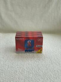 Pack Of 3 SONY P5-90MP3 VIDEO 8 VIDEO8 STANDARD 90MINS CAMERA TAPE GENUINE