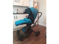 Mamas and papas mylo forward and back facing pushchair with footmuff