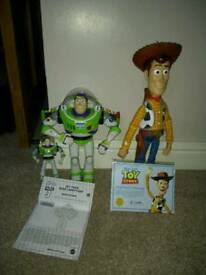 Toy story buzz and woody figures