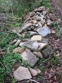 Rockery rocks and rubble stone