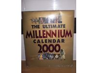 """THE ULTIMATE MILLENNIUM CALENDAR 2000 - BRAND NEW STILL IN CELLEPHANE PACKING - 14"""" high x 12"""" wide"""