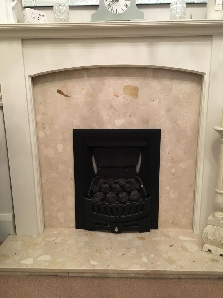 For Sale: Gas fire, Marble & Hearth